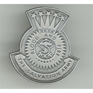 Pin The Salvation Army Flagbrooch / Pin Antique Silver (Magnetic)