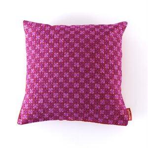 "Hand embroidered cushion cover (15"" X 15"") Pink / Light Pink Bangladesh"