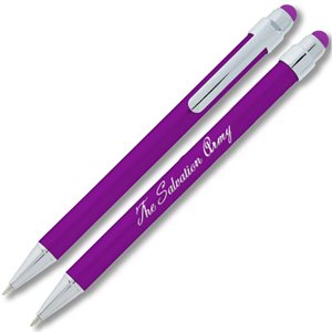 Metallic Purple Stylus Pen With The Salvation Army Imprint