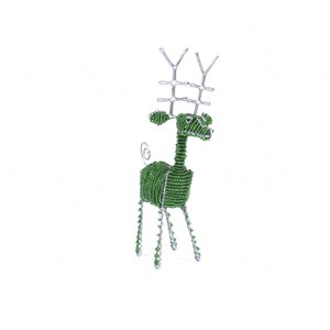 Small Green Beaded Reindeer