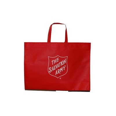 Red Tote Bag With Shield