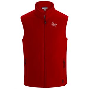 Men's Red Fleece Vest with The Salvation Army Embroidery