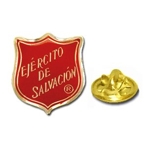Pin Red Shield Spanish 3 / 4""