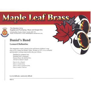 MAPLE LEAF BRASS #14 DANIELS'S BAND DS