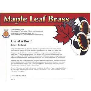 MAPLE LEAF BRASS #15 CHRIST IS BORN!