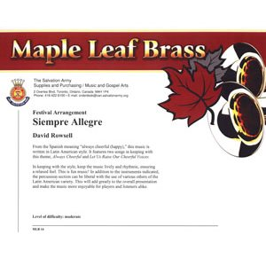 MAPLE LEAF BRASS #16 SIEMPRE ALLEGRE