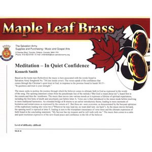 MAPLE LEAF BRASS #18 IN QUIET CONFIDENCE
