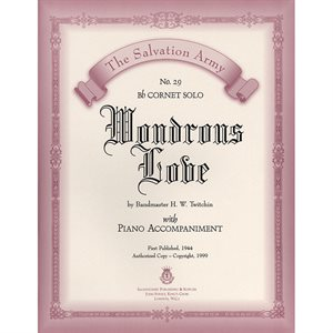 WONDROUS LOVE  - Classic Series Bb Cornet