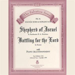 SHEPHERD OF ISRAEL /  BATTLING FOR THE LORD - Classic Series Eb