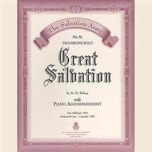 GREAT SALVATION  - Classic Series Trombone
