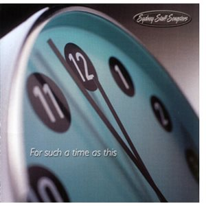 FOR SUCH A TIME AS THIS BY SYDNEY STAFF SONGS CD