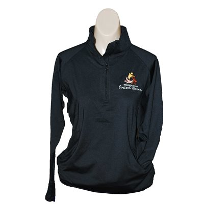 WM Ladies Black 1 / 2 Zip Pullover Small