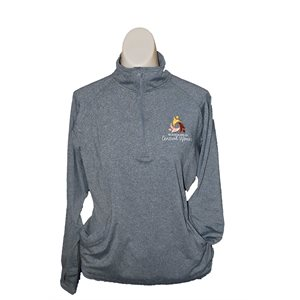 WM Ladies Charcoal 1 / 2 Zip Pullover Small