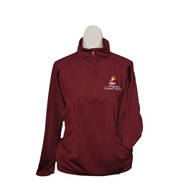 WM Ladies Maroon 1 / 2 Zip Pullover Small