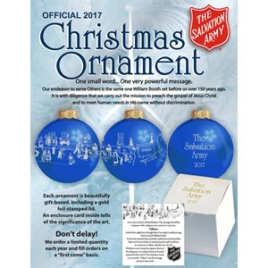 2017 CHRISTMAS ORNAMENT (CASE / 24)