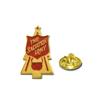 Christmas kettle Pin
