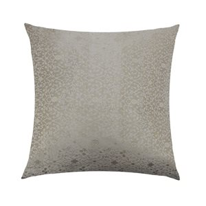 Cushion Cover Brocade:: Flower Light Grey