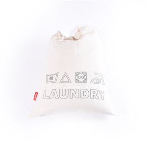 Embroided Laundry Bag Natural