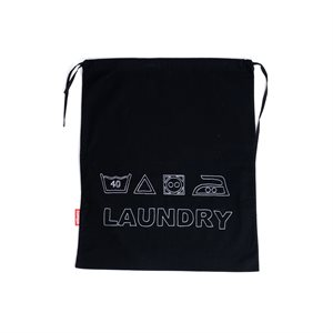 Embroided Laundry Bag Black