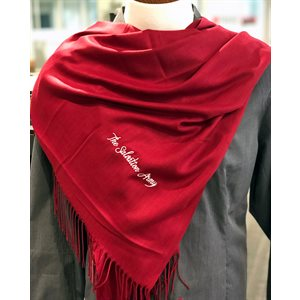 Pashmina Burgundy Scarf with The Salvation Army Embroidery