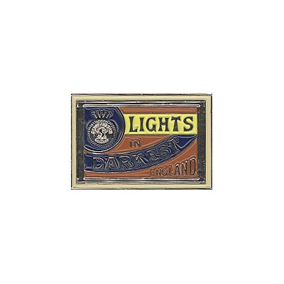 Lights In Darkest England - Matchbox Pin