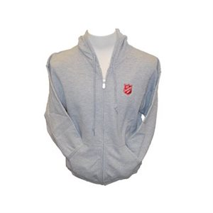 Dark Grey Zip up Hoodie w / Shield
