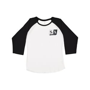 Ladies SA White / Blk Sleeve Jersey